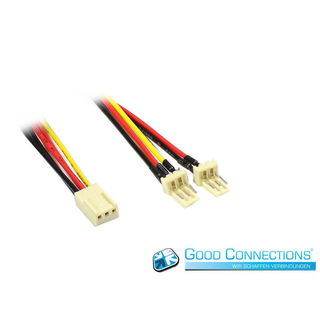 Good Connections Lüfter Y-Adapterkabel 3Pin auf 2x 3Pin Molex