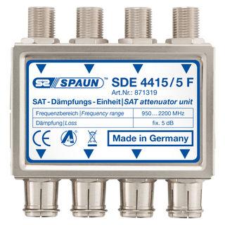 Spaun SDE 4415/5F Sat Dämpfungseinheit zum Absenken zu hoher Pegel