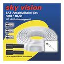 Sky Vision SAT/BK Koaxialkabel 110dB weiß inkl. 4x...