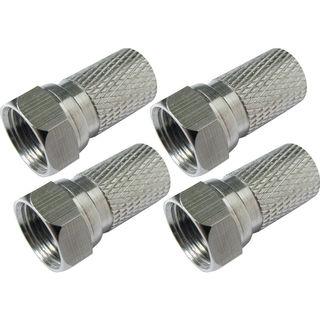 Schwaiger FLS315 231 | F-Stecker für 8mm SAT Koaxialkabel 4 Stück
