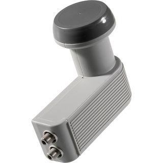 Schwaiger FLS992 031 | Universal Twin LNB 40mm Feed hellgrau inkl. Wetterschutz