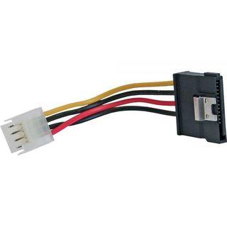 InLine SATA Stromadapterkabel Buchse Floppy an Stecker S-ATA 0,06m