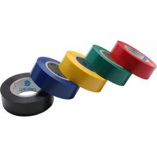 InLine Isolierband 5er Pack schwarz/blau/gelb/grün/rot | 18mm*9m