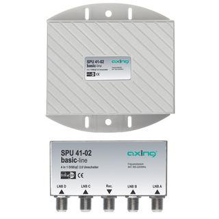 Axing SPU 41-02 DiSEqC Umschalter mit WSG | 4 LNB gleichzeitig auf 1 Receiver