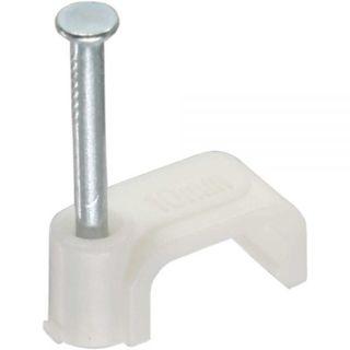 InLine Kabelschelle 8mm eckig | weiß | 100 Stück