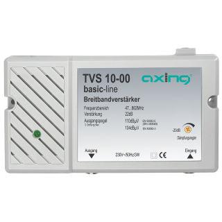 Axing TVS 10-00 Kabelfernsehen & DVB-T2 Verstärker | integr. Netzteil | 22dB