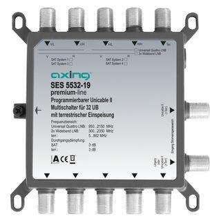 Axing SES 5532-19 Unicable 2 / II Multischalter | 1 LNB | 32 Receiver/Teilnehmer