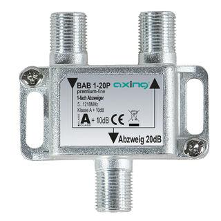 Axing BAB 1-20P BK / Kabelfernsehen Abzweiger 1fach | 5...1218 MHz | 20dB