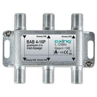Axing BAB 4-16P BK / Kabelfernsehen Abzweiger 4fach | 5...1218 MHz | 16dB