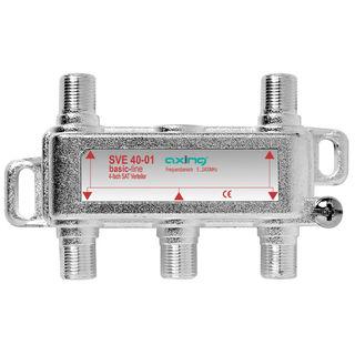 Axing SVE 40-01 4fach Verteiler diodenentkoppelt für SAT / Unicable / DVB-T2