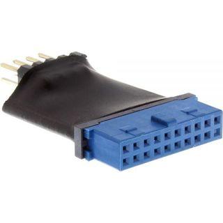 Inline USB 3.0 Mainboard intern auf USB 2.0 Pfostenstecker intern Adapter