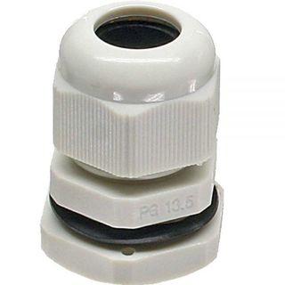 InLine Kabeldurchführung PG 13,5 Nylon IP68 6-12mm grau 10 Stück