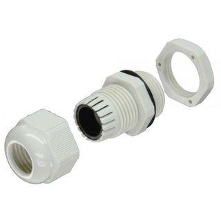 InLine Kabeldurchführung PG 29 Nylon IP68 18-25mm grau 10 Stück