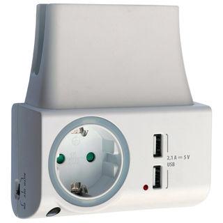 Feintech FeinLoad 1 USB Ladegerät | Nachtlicht | Handyhalterung | Steckdosenbu.