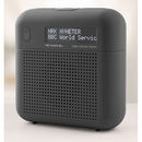 Tiny Audio M3+ DAB+ / FM tragbares / stationäres Radio | großes Display | schw.