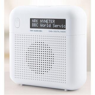 Tiny Audio M3+ DAB+ / FM tragbares / stationäres Radio | großes Display | weiß