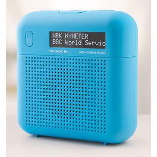 Tiny Audio M3+ DAB+ / FM tragbares / stationäres Radio | großes Display | blau