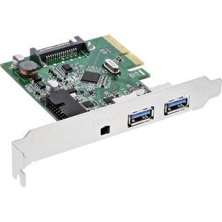 InLine PCIe x4 Schnittstellenkarte | 2x USB 3.1 Typ A extern od. 1x 19pin intern