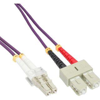 Inline LWL Duplex Patchkabel | LC/SC | 50/125µm | OM4 | 2m