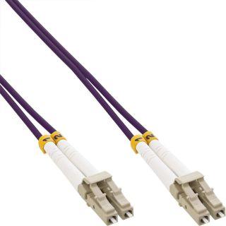 Inline LWL Duplex Patchkabel   LC/LC   50/125µm   OM4   0,5m