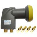 Humax LNB 143s Gold, 0,1dB Quad-LNB für 4 Receiver |...