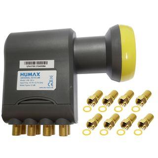 Humax Octo LNB 182s | 8 Receiver | HD UHD 8K | LTE Filter | inkl. 8 F-Stecker