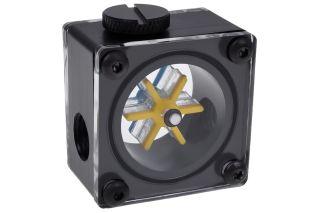 Alphacool Eisflügel Durchflussanzeiger G1/4 eckig - Acetal