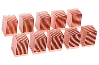 Alphacool GPU RAM Copper Heatsinks 10x10mm - 10 Stück