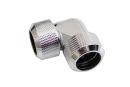 Alphacool Eiszapfen 16mm HardTube Anschraubtülle 90° L-Verbinder - Chrome