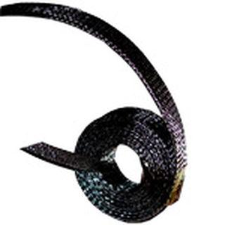 Blackwire Kabelummantelung Meterware 12mm Sleeve 1 Meter (Meterware) inkl. Schrumpfschlauch