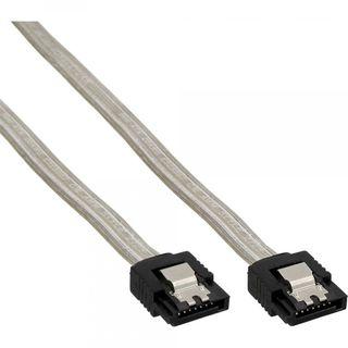 InLine SATA Anschlusskabel | Sicherheitslasche | transparent 0,5m