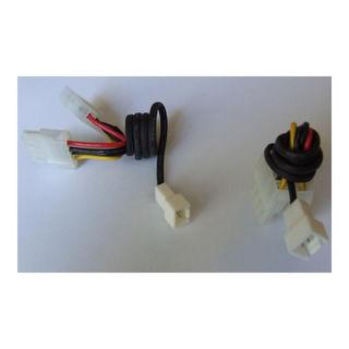 4Pin Netzteil -> 3Pin Molex Adapterkabel 30cm mit Ummantelung