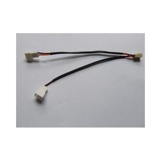 Lüfter Y-Adapterkabel 3Pin Molex mit Ummantelung Schwarz