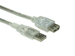 USB 2.0 Verlängerung transparent 1,8m