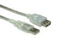 USB 2.0 Verlängerung transparent 5m