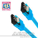 AC Ryan S-ATA II Datenkabel UV Blue 0,2m