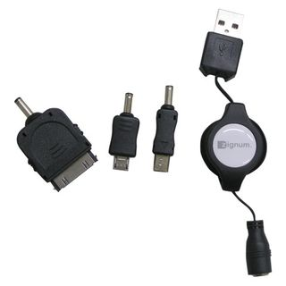 Zignum Universal USB Ladekabel ausziehbar 0,8m