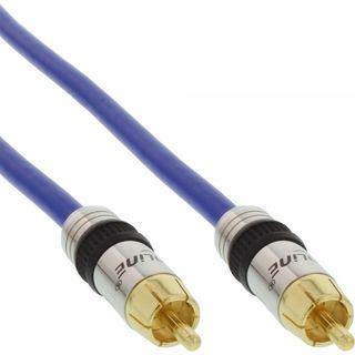 InLine Premium Subwoofer Cinch Kabel 1x Stecker auf Stecker 3m