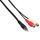 InLine Cinch-Y-Kabel 1x Cinch Stecker auf 2x Cinch Buchse 0,2m