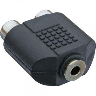 InLine Audio Adapter 3,5mm Klinke Buchse Stereo auf 2x Cinch Buchse
