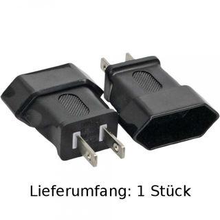InLine Netzadapter Deutschland / Euro-Buchse auf USA Stecker 2pol