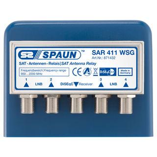 Spaun SAR 411 F 4x1 DiSeqC 2.0 Relais / Schalter mit Wetterschutzgehäuse