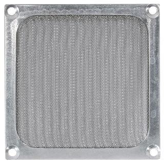 Cooltek Lüftergitter / Filter 120mm silber für Gehäuselüfter