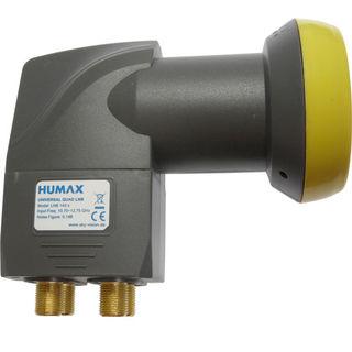 Humax LNB 143s-B Gold, Quad, 0,1 dB geblistert für 4 Teilnehmer